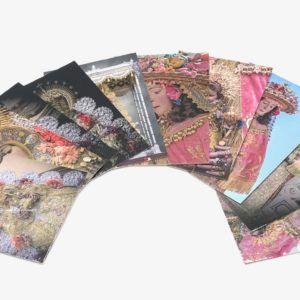 Pack de estampas de la Virgen del Rocío.