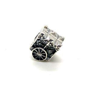Charm carreta fabricada en Plata de Primera Ley. Compatible con pulsera Pandora.