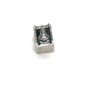 Charm palio Virgen del Rocío fabricado en Plata de Primera Ley. Compatible con pulsera Pandora.