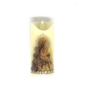 Vela Votiva Virgen del Rocío Led.