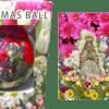 Bola de Navidad Virgen del Rocío flores