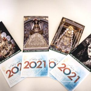 Pack 4 Calendario imán Virgen del Rocío