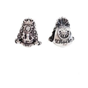 Charm silueta Virgen del Rocío de Reina fabricado en Plata de Primera Ley. Compatible con pulsera Pandora.